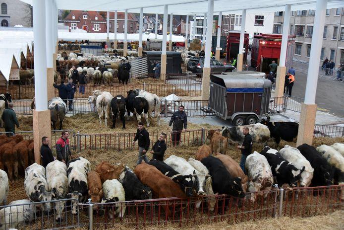 Houtem Jaarmarkt heeft de grootste overblijvende veemarkt van het land.