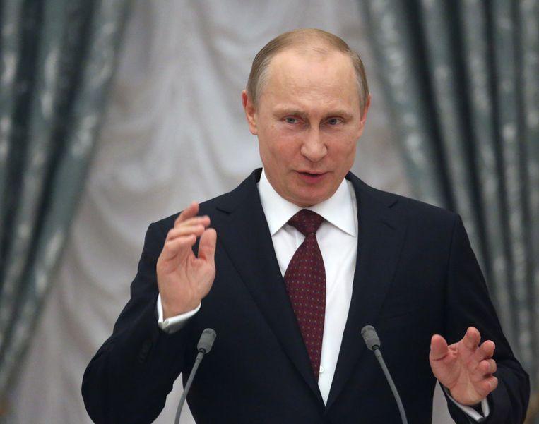 De Russische president Vladimir Poetin. Beeld GETTY