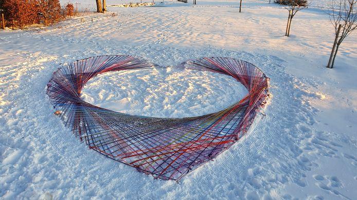 Een experiment in februari:  een Valentijnshart.