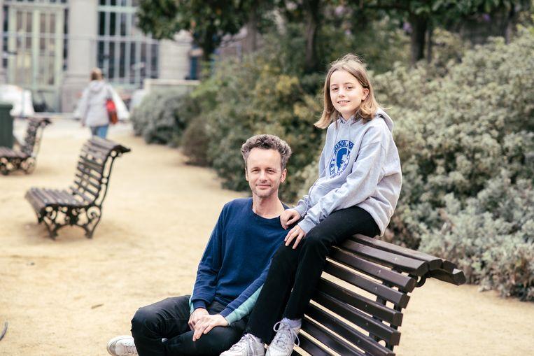 Gijs en Jacoba Ieven zijn teleurgesteld. Ze gaven vijf scholen op als keuze, maar er bleek nergens een plekje voor Jacoba op een Nederlandstalige school. Beeld Tine Schoemaker