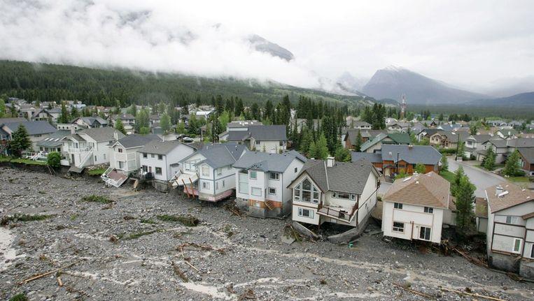 Overtroming in Canmore, Alberta. Beeld ap