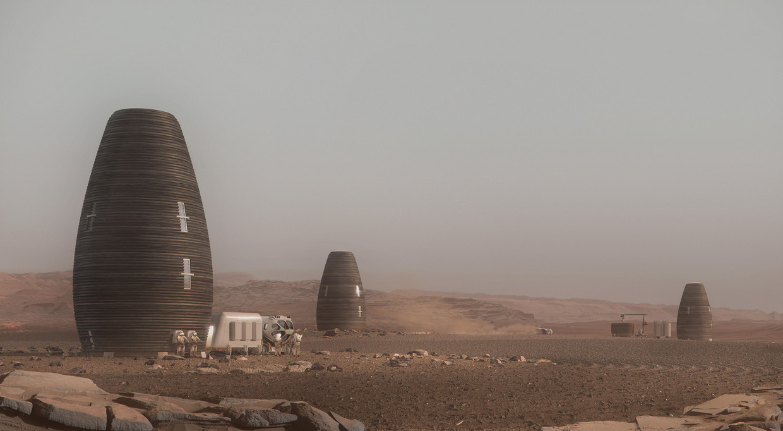 Digitale rendering van Marsha's Beeld AI Spacefactory/Plomp