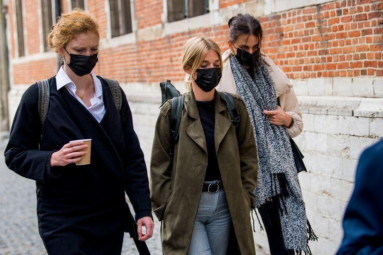 Slachtoffers Helena De Craemer, Ella-June Henrard en Lize Feryn. Beeld BELGA