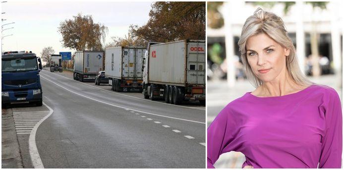 Tanja Dexters reed in Olen tegen een geparkeerde vrachtwagen en pleegde vluchtmisdrijf