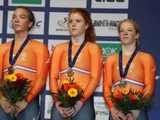 Van de Wouw en Van Riessen grijpen zilver op teamsprint