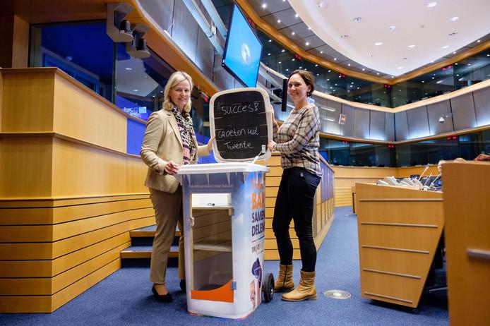 De deelcontainer in het Europees parlement