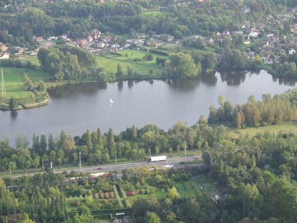 Het Damslootmeer in Destelbergen.