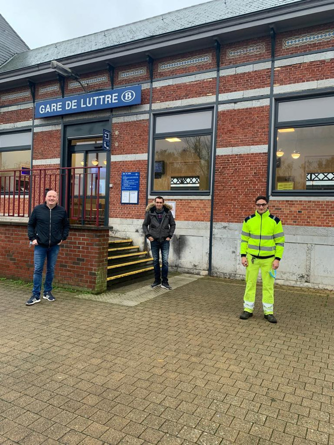 Les trois travailleurs d'Infrabel, Serge, Jérôme et Luca, ont sorti un enfant autiste du pétrin