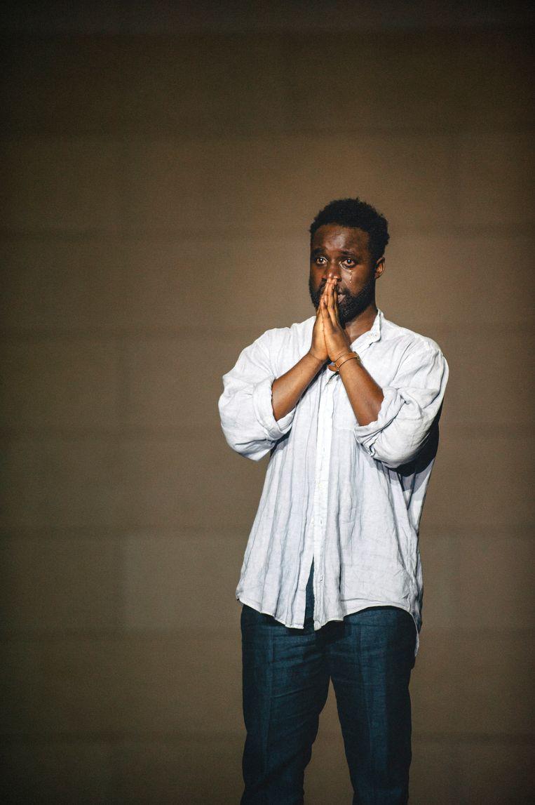 Emmanuel Ohene Boafo in Sea Wall van Het Nationale Theater Beeld Koen Veldman