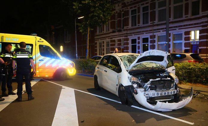 Het ongeluk gebeurde op de Koningsweg in Den Bosch.