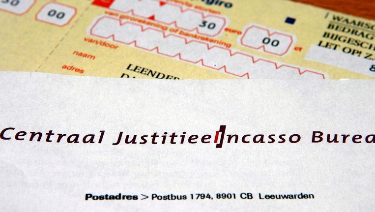 Een betalingsverzoek van het Centraal Justitieel Incasso Bureau (CJIB). Beeld anp