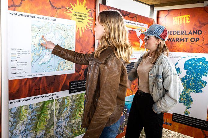 Kijken bij de klimaatspeurtocht op het GeoFort