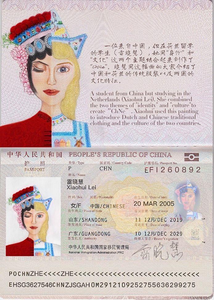 Het werkstuk van Xiaohui.
