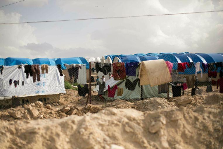 Een vluchtelingenkamp in het noorden van Syrië. Beeld AP