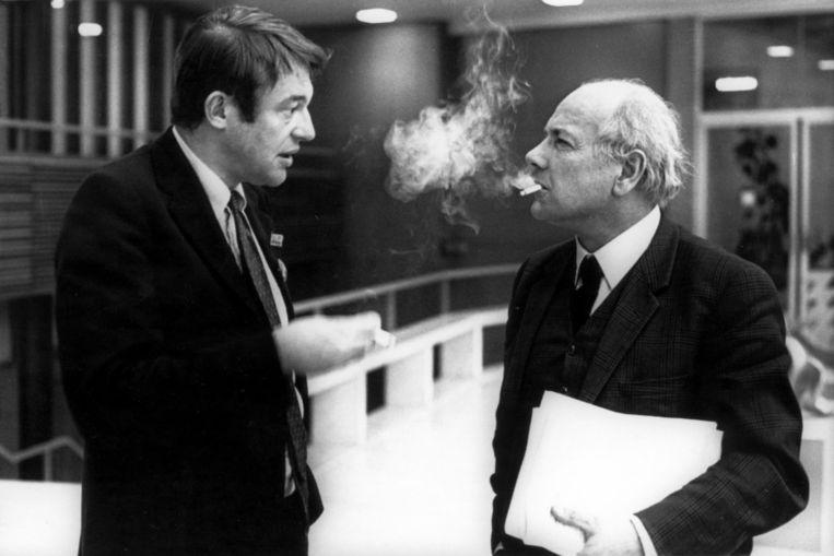 Van Mierlo en Joop den Uyl  in 1969. Beeld Hollandse Hoogte /  ANP