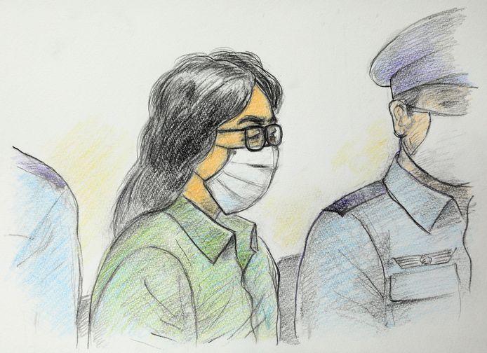 Takahiro Shiraishi gisteren in de rechtbank.