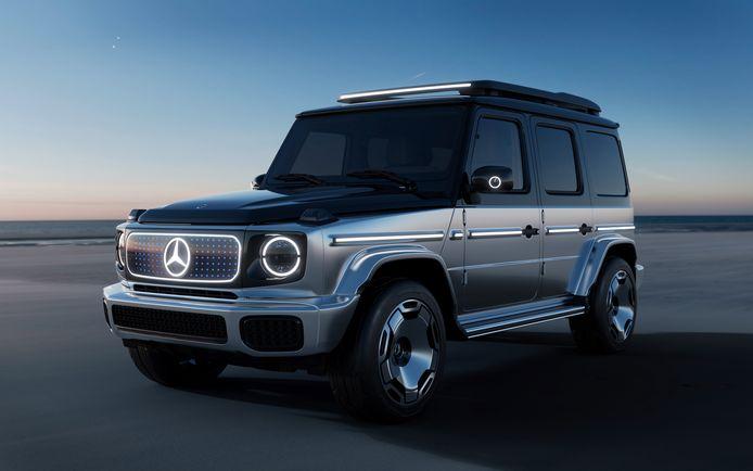 Het studiemodel van de komende Mercedes EQG