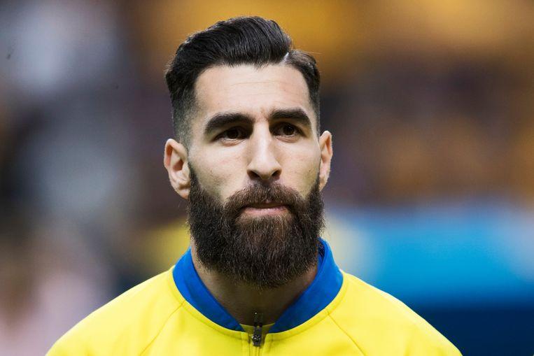 Jimmy Durmaz was de voorganger van de wijdverbreide hipsterchic op de Russische WK-velden en verdient de prijs voor meest aanwezige baard. Beeld Getty Images