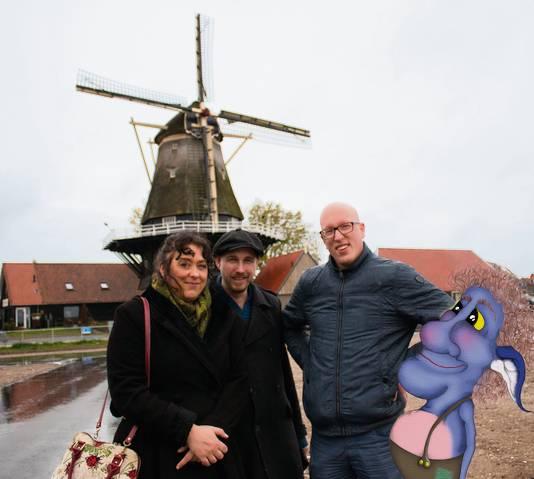 Sjarenka Bognar, Chuck van Loenen en Sander Goudzwaard makers van het boek Blauwe Gerrit en de verdwenen schapen