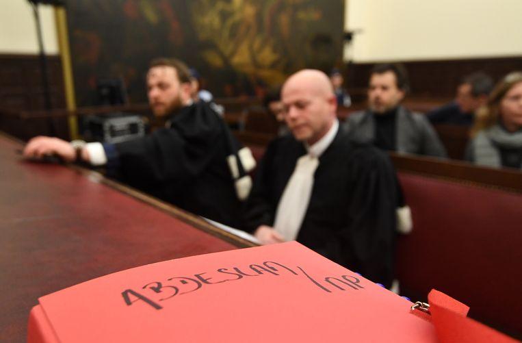 Advocaat Sven Mary bij de start van het proces. Beeld AP