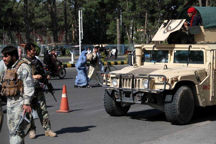 Afghaans veiligheidspersoneel in de provincie Herat.