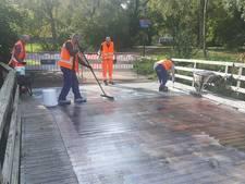 Houten brug in Driebergen opnieuw voorzien van slijt- en antisliplaag
