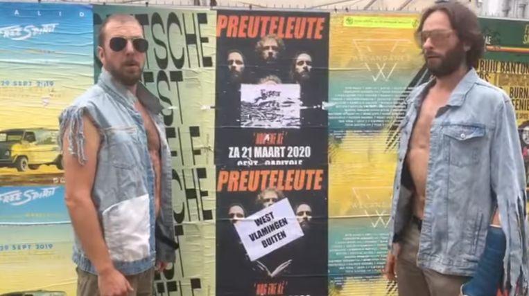 Preuteleute zit zelf achter de actie waarbij affiches werden beplakt.
