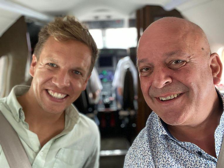 James Cooke volgt de terminale John Beeckaert voor zijn nieuwste programma 'Leef!'. Beeld SBS