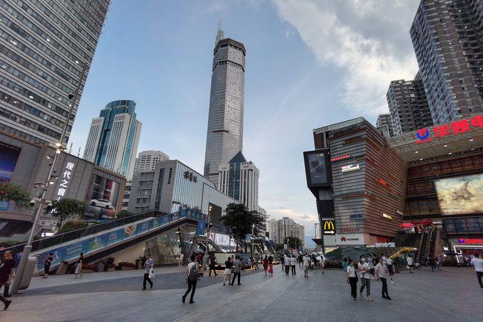 De 300 meter hoge wolkenkrabber 'Seg Plaza' in Shenzhen begon op 18 mei plots onverklaarbaar te wiebelen.