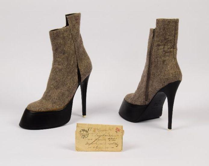 De schoenen van AF Vandervorst en de brief uit 1842.