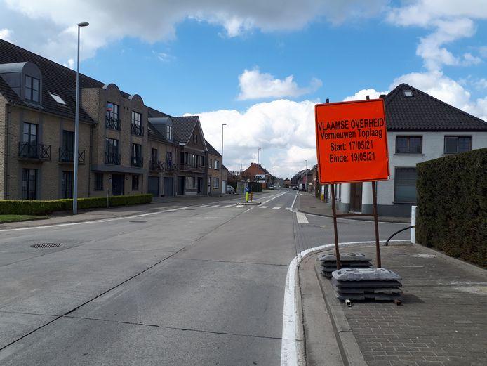 Tijdens de werken gaat de Wettersesteenweg dicht.