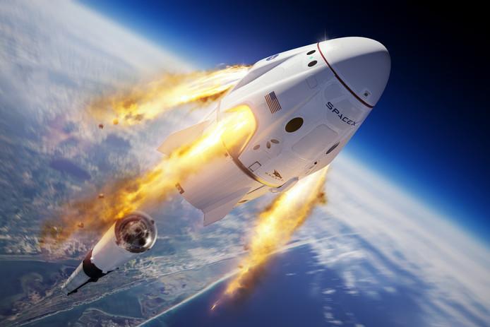 La capsule Crew Dragon de SpaceX.