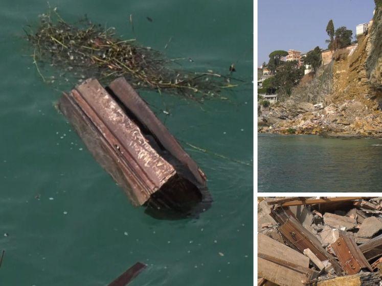 Un cimetière finit dans la mer en Italie, des cercueils à la surface de l'eau