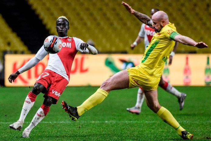 Krépin Diatta in actie voor AS Monaco.