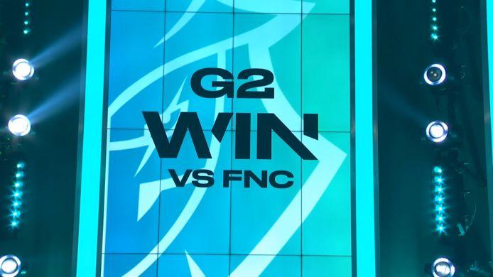 G2 Esports vernederde Fnatic in speelronde 7 van de LEC.