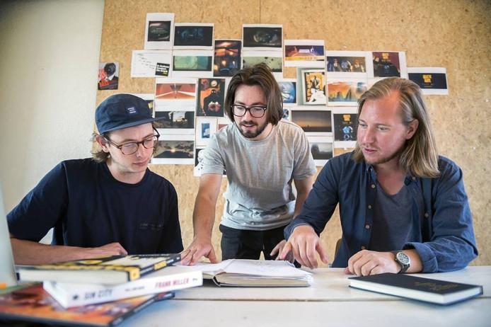 Hubert Heutinck, Julian Theelen en Robert van Wingerden van Supermassive (vlnr.) foto Marina Popova