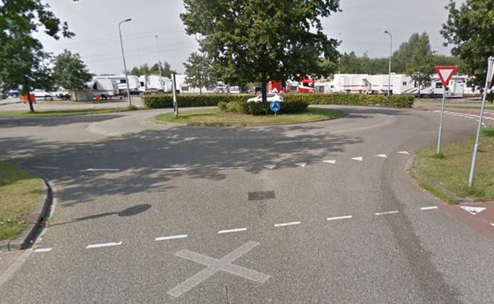 Rotonde bij De Stok in Roosendaal.