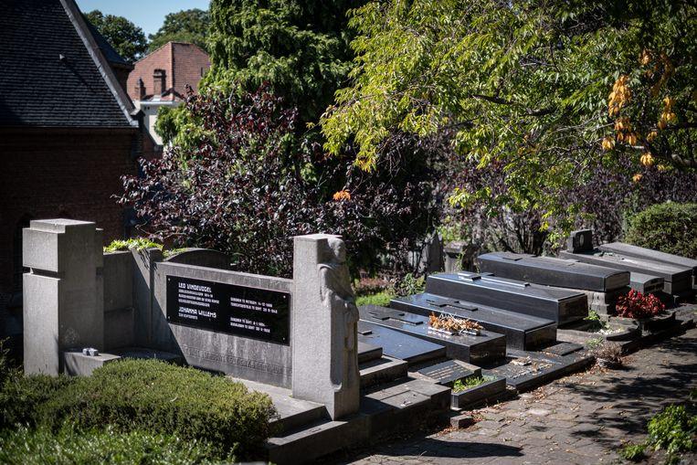 Het graf van Leo Vindevogel op Campo Santo, Sint Amandsberg. Beeld Wouter Maeckelberghe