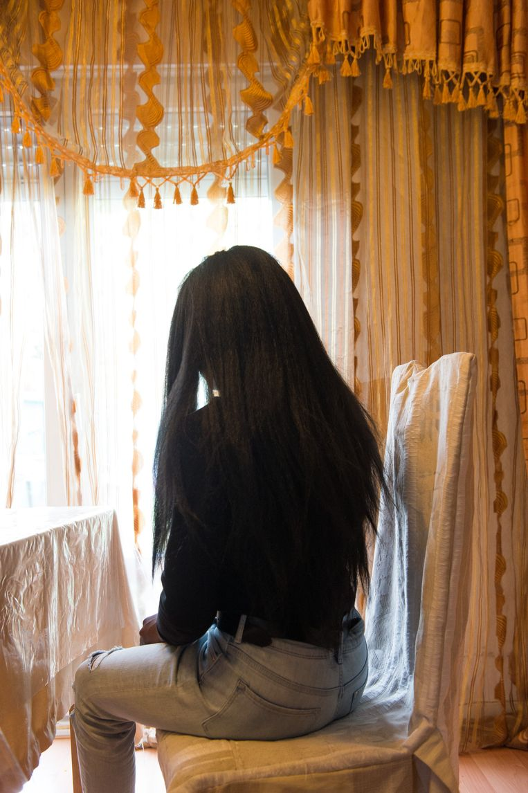 Loreine, die liever niet herkenbaar in beeld komt, beleefde maandag de schrik van haar leven.