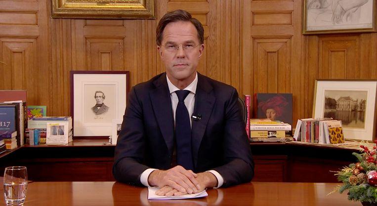 Thorbecke kijkt mee bij premier Rutte. Beeld Het Parool