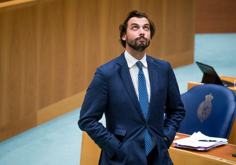Thierry Baudet (FvD) tijdens de algemene beschouwingen in de Tweede Kamer.  Beeld Freek van den Bergh / de Volkskrant