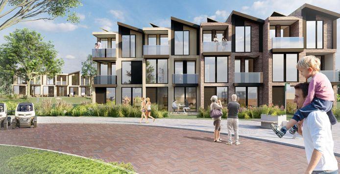 De woningen, die door het bouwen in modules snel kunnen worden opgeleverd, vallen in de vrije huursector.