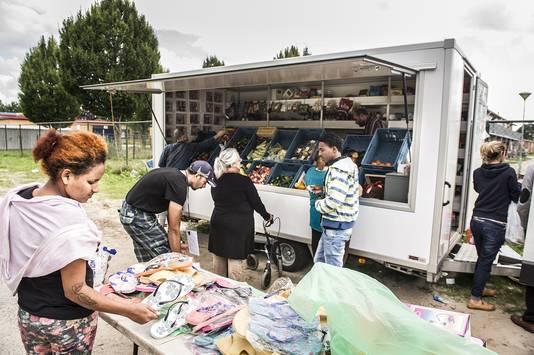 Klandizie bij de kraam van de Syriër Kevork