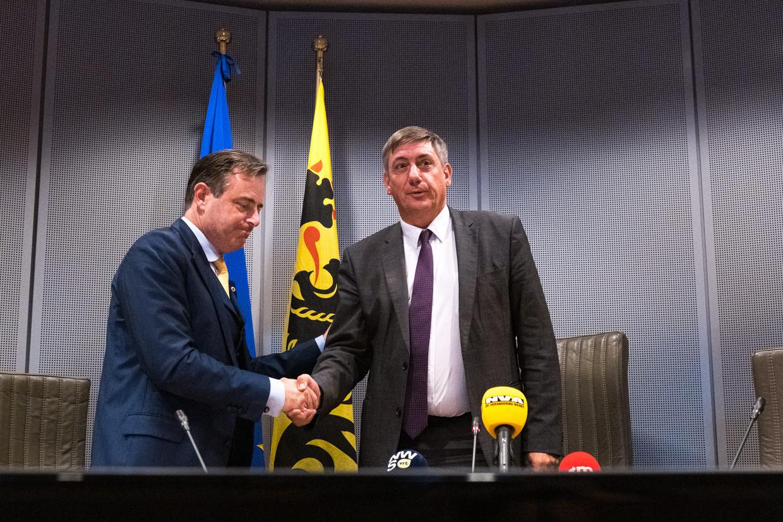 Sinds de verkiezingen is duidelijk dat de constructie met Bart De Wever als Vlaams 'MP' en Jan Jambon als premier allicht niet stand zou houden.  Beeld Wouter Maeckelberghe
