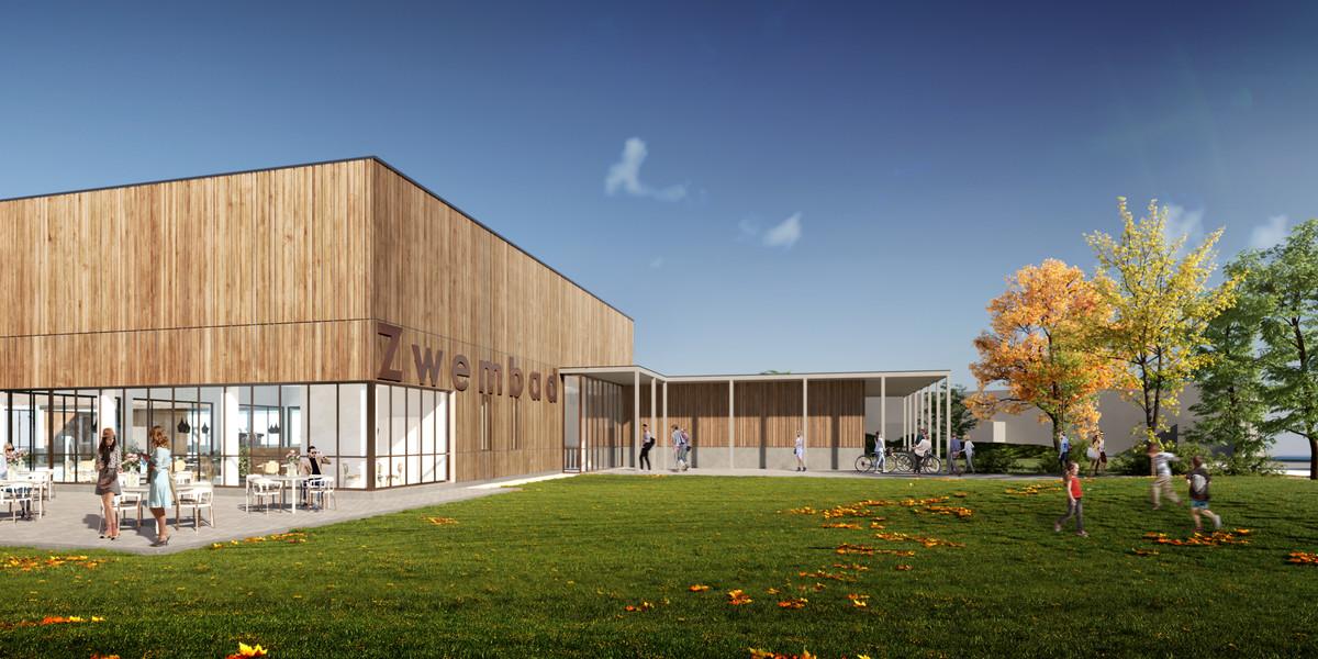 Een beeld van het toekomstige intergemeentelijke zwembad.