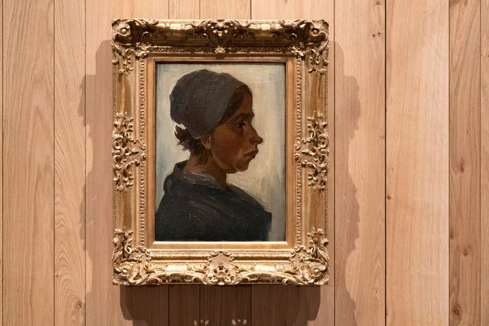 Het werk 'Kop van een vrouw' van Van Gogh is de komende dagen te bekijken in Het Noordbrabants Museum.