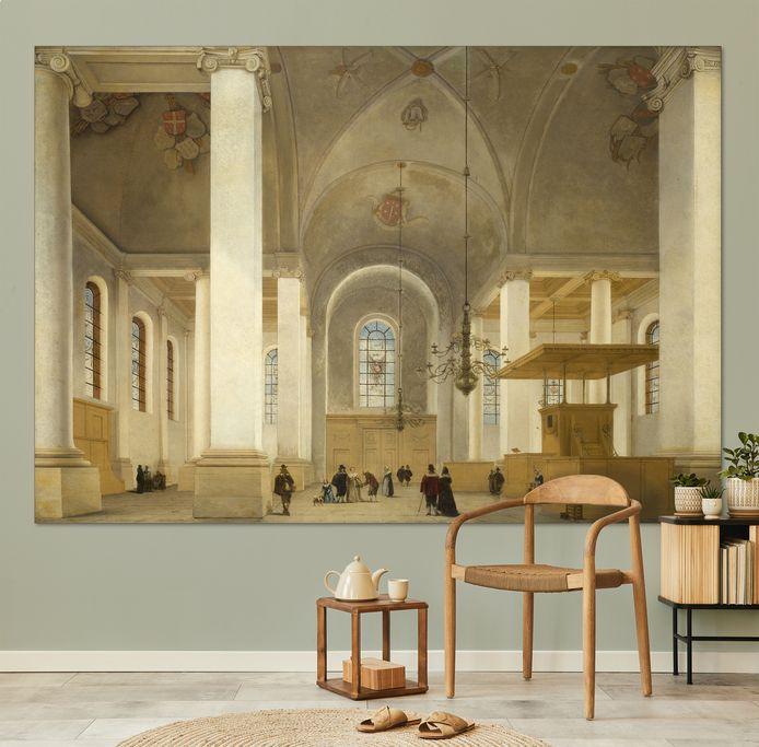 Pieter Saenredam - interieur van de St. Odulphuskerk.