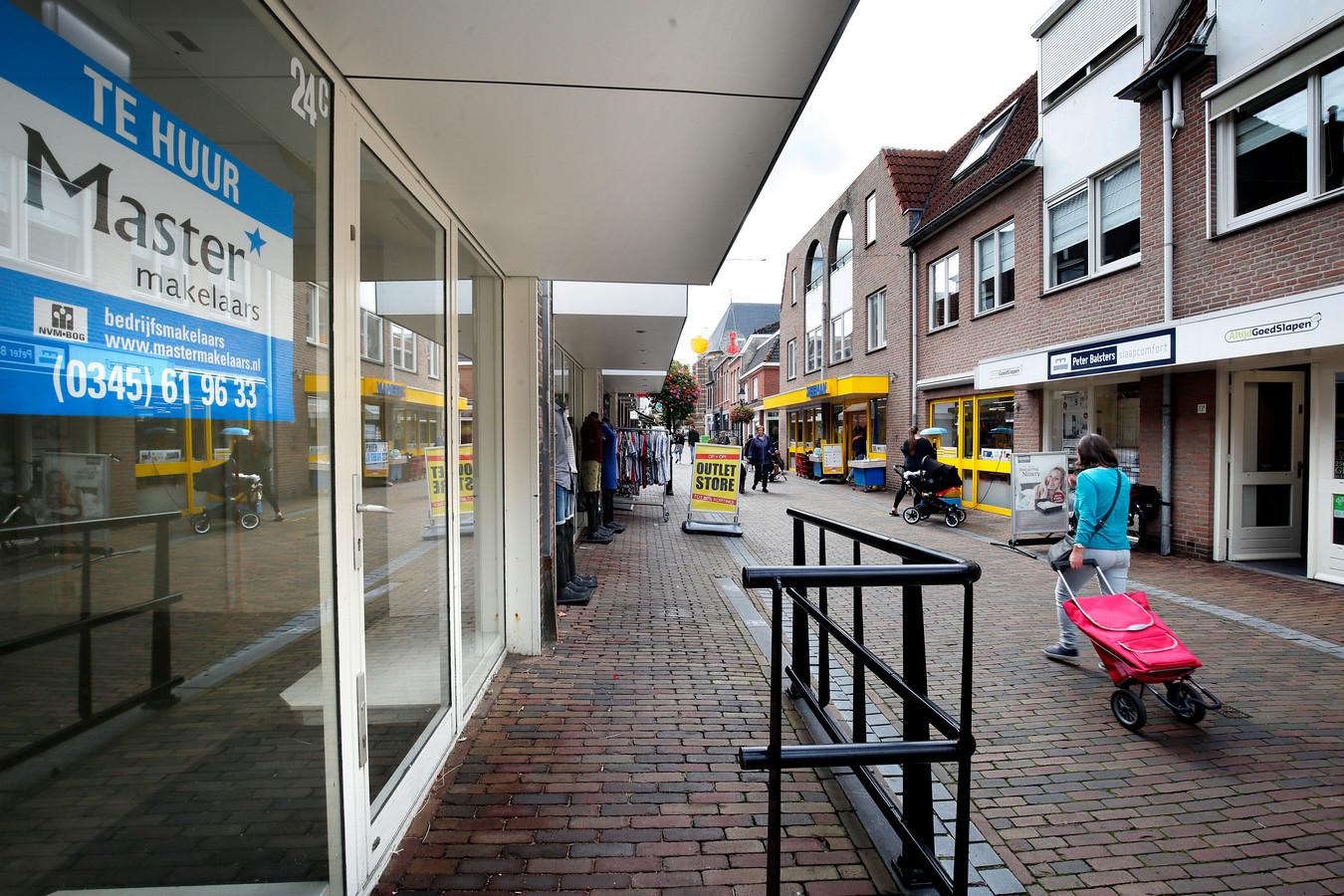 Leegstand in Leerdam, archieffoto van september 2020.