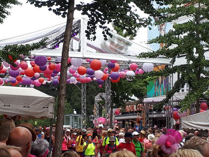 Roze Woensdag in de Hertogstraat.