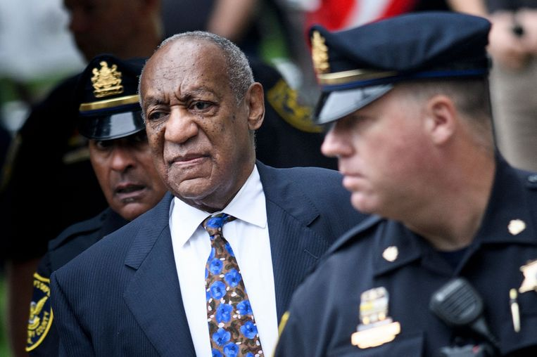 Bill Cosby bij aankomst bij de rechtbank in Norristown, Pennsylvania in 2018. Beeld AFP